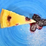 Baked blackberry Cheesecake