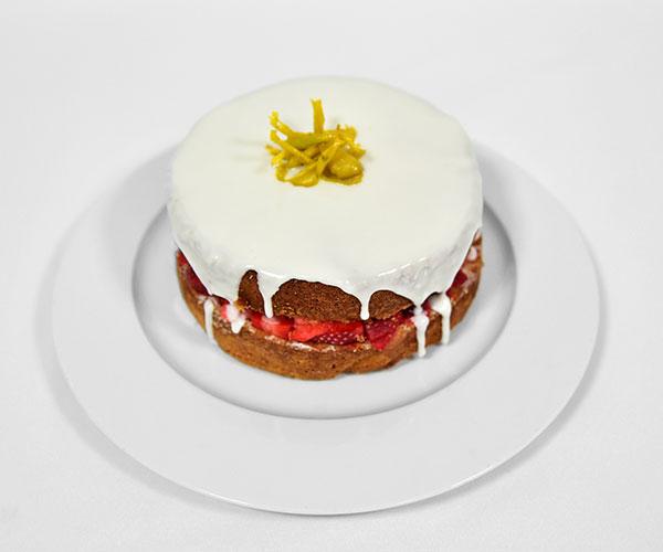 Iced Lemon Strawberry Cake